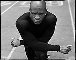 USA Olympic Preview 2004: Maurice GREENE, 30, Track (100-m dash and 4 x 100-m relay), Kansas City, Kansas, May 2004...2004 © David BURNETT (CONTACT PRESS IMAGES)