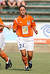 03 July 2008: Carolina's Nicole Danford. The Charlotte Lady Eagles defeated the Carolina Railhawks Women 3-0 at WakeMed Stadium in Cary, NC in a 2008 United Soccer League W-League regular season game.
