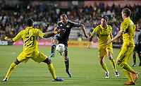 San Jose, California - Saturday, May 19, 2012: The San Jose Earthquakes and the Columbus Crew tie 1-1 at Buck Shaw Stadium during a regular season game.