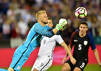 Washington, D.C. - October 11, 2016: The U.S. Men's National team and New Zealand played to a 1-1 draw in an international friendly game at RFK Stadium.