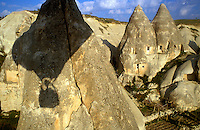 Goreme, Cappadocia, Nevsehir, Turkey. Love Valley is named after its phallic rock formations. A hot air balloon flight is one of the best ways to explore the fairy chimney landscape of Cappadocia and the Gorme National Park. Photo by Frits Meyst / MeystPhoto.com