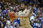 04 February 2015: Georgia Tech's Chris Bolden. The Duke University Blue Devils hosted the Georgia Tech Yellow Jackets at Cameron Indoor Stadium in Durham, North Carolina in a 2014-16 NCAA Men's Basketball Division I game. Duke won the game 72-66.