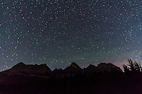 Big Dipper just grazing above Mount Wilson at Saskatchewan River Crossing, Banff, Alberta, on Sept,8, 2012. Polaris and Little Dipper at top. Bands of green airglow visible. Taken with the Canon 7D at ISO 1600 and 10-22mm lens at f/3.5 for 80 seconds.