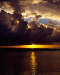 Sunset on the Fijian island of Lautoka.