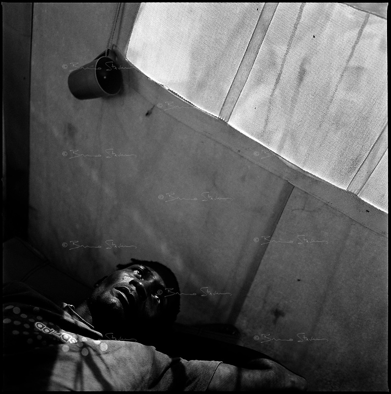 Luanda, Angola, May 19, 2006.Fracisco, 28, is a patient at the Boa Vista MSF Belgium operated cholera field clinic. Between February and June 2006, more than 30000 people were infected with cholera in Angola's worse outbreak ever; more than 1300 died.