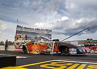 Aug 19, 2016; Brainerd, MN, USA; NHRA funny car driver Matt Hagan during qualifying for the Lucas Oil Nationals at Brainerd International Raceway. Mandatory Credit: Mark J. Rebilas-USA TODAY Sports