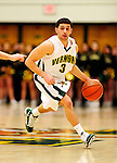 21 January 2010: University of Vermont Catamount guard Joey Accaoui, a Junior from Lincoln, RI, in action during a game against the Stony Brook University Seawolves at Patrick Gymnasium in Burlington, Vermont. The Catamounts fell to the Seawolves 65-60 in the America East matchup. Mandatory Credit: Ed Wolfstein Photo