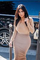 Kim Kardashian shopping in Paris - France