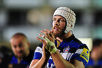 Dave Attwood of Bath Rugby acknowledges the crowd after the match. Aviva Premiership match, between Bath Rugby and Sale Sharks on October 7, 2016 at the Recreation Ground in Bath, England. Photo by: Patrick Khachfe / Onside Images
