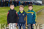 Gavin O'Connor, Cian Maloney  and Jamie Maloney watching  the Tarbert V  St. Senans   in the The Bernard O'Callaghan Memorial Senior Football Championship 2016 Semi Final against St. Senans at Frank Sheehy Park, Listowel on Sunday