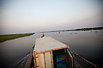 United Nation Supply boat steams up the nile and docks at the border city of Renk in Upper Nile state.