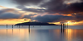 Sunrise over Angel Island, San Francisco Bay, California, USA