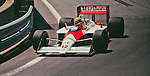 Ayrton Senna in the McLaren MP4-4, Detroit 1988