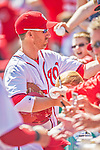 8 March 2013: Washington Nationals first baseman Adam LaRoche signs autographs prior to a Spring Training game against the St. Louis Cardinals at Space Coast Stadium in Viera, Florida. The Cardinals defeated the Nationals 16-10 in Grapefruit League play. Mandatory Credit: Ed Wolfstein Photo *** RAW (NEF) Image File Available ***