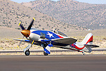 Owned and piloted by Stewart Dawson, Spirit of Texas-Race 105, taxies after the completion of the Gold Unlimited Championship race during the 2008 Reno Championship Air Races. Stewart piloted the Hawker Sea Fury to a fifth place finish with a speed of 418.746 mph around the 63.9912 mile course in the Gold Unlimited Championship race.