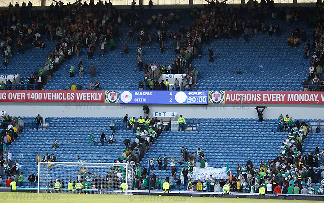 The Celtic fans leave at full time