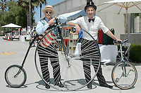 Dennis Forel (left) and Mark Wenzel performed during Santa Monica Public Library's bicycles and cycling iCycle festival on Saturday, May 22, 2010