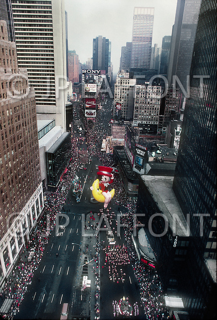 New York, U.S.A, 26th, November, 1987. Betty Boop seen at the famous Macy's Thanksgiving Parade.