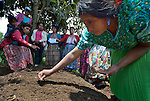 Julia Jimenez Miranda and other Maya women participate in a workshop at an eco-agricultural training center in Comitancillo, Guatemala. The center is sponsored by the Maya Mam Association for Investigation and Development (AMMID).