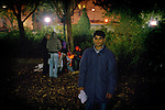[English]  Hossein, 17, spending one more night in the park, for want of anything better. For respect of the international conventions, France should take in charge every minor on its territory.<br /> <br /> [Francais]  Feu de camp au square Villemin fin octobre 2008. Hossein, 17 ans, passera une nouvelle nuit ici, faute de mieux.