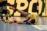 GER - Mannheim, Germany, September 23: During the DKB Handball Bundesliga match between Rhein-Neckar Loewen (yellow) and TVB 1898 Stuttgart (white) on September 23, 2015 at SAP Arena in Mannheim, Germany.  Alexander Petersson #32 of Rhein-Neckar Loewen<br /> <br /> Foto &copy; PIX-Sportfotos *** Foto ist honorarpflichtig! *** Auf Anfrage in hoeherer Qualitaet/Aufloesung. Belegexemplar erbeten. Veroeffentlichung ausschliesslich fuer journalistisch-publizistische Zwecke. For editorial use only.