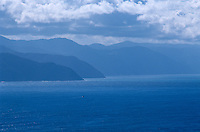 A view from Portofino across the Ligurian sea