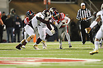 Ole Miss running back Jeff Scott (3) vs. Mississippi State linebacker Cameron Lawrence (10) at Vaught-Hemingway Stadium in Oxford, Miss. on Saturday, November 24, 2012. Ole Miss won 41-24.