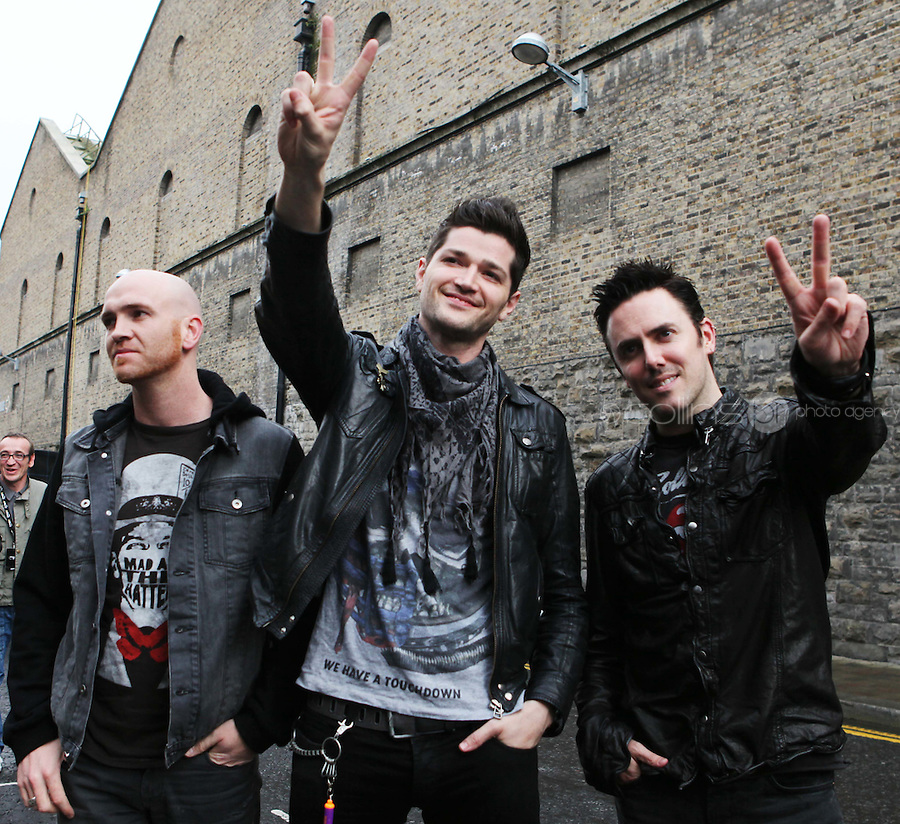 23/9/2010. Arthurs day. The Script are pictured arriving at the Guinness Store House Dublin raise their glasses for Arthurs Day. Picture James Horan/Collins