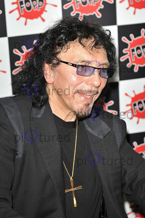Tony Iommi signing copies of his new biography 'Iron Man' at Fopp Records, Covent Garden, London UK 17th October 2011. Contact: rich@piqtured.com +44 07941 079620(Picture by Awais Butt)