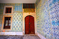 Entrance to the apartments of  the Eunuchs in the Harem. Topkapi Palace, Istanbul, Turkey