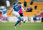 St Johnstone v Dundee&hellip;11.03.17     SPFL    McDiarmid Park<br />Blair Alston scores his goal<br />Picture by Graeme Hart.<br />Copyright Perthshire Picture Agency<br />Tel: 01738 623350  Mobile: 07990 594431