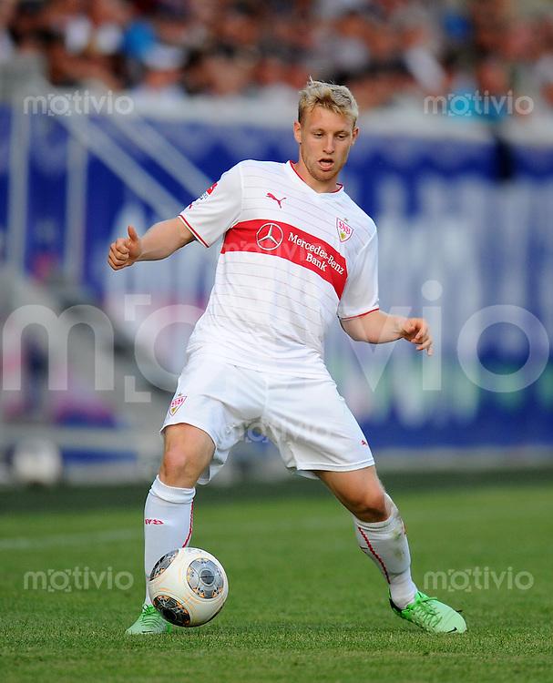 FUSSBALL  1. Bundesliga   2013/2014   Testspiel  FC Heidenheim - VfB Stuttgart   13.07.2013 Patrick Funk (VfB Stuttgart) am Ball