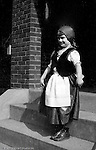 Wilkinsburg PA:  Stewart neighbor dressed in traditional Eastern European clothing for a family outing - 1927