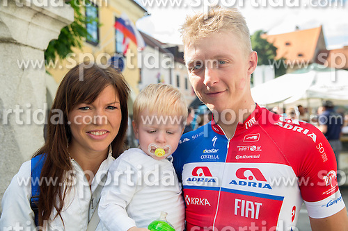 Marko Kump with his wife and child during Stage 4 of 22nd Tour of Slovenia 2015 from Rogaska Slatina to Novo mesto (165,5 km) cycling race  on June 21, 2015 in Slovenia. Photo by Vid Ponikvar / Sportida