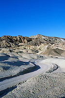 Death Valley National Park, California, CA, USA - Eroded Landscape in Twenty Mule Team Canyon
