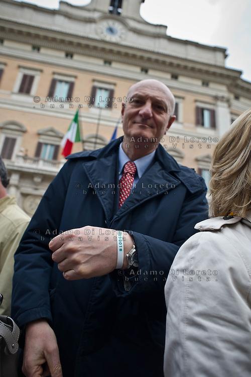 ROMA 15/03/2012: Inizia la XVII Legislatura della Repubblica Italiana. L'ingresso degli Onorevoli a Montecitorio. Nella foto Gianni Melilla PD FOTO DI LORETO ADAMO