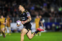 Matt Banahan of Bath Rugby runs in a try late in the game. European Rugby Challenge Cup match, between Bath Rugby and Bristol Rugby on October 20, 2016 at the Recreation Ground in Bath, England. Photo by: Patrick Khachfe / Onside Images