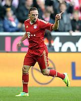 FUSSBALL   1. BUNDESLIGA  SAISON 2011/2012   11. Spieltag FC Bayern Muenchen - FC Nuernberg        29.10.2011 Jubel nach dem Tor zum 3:0,  Franck Ribery (FC Bayern Muenchen)