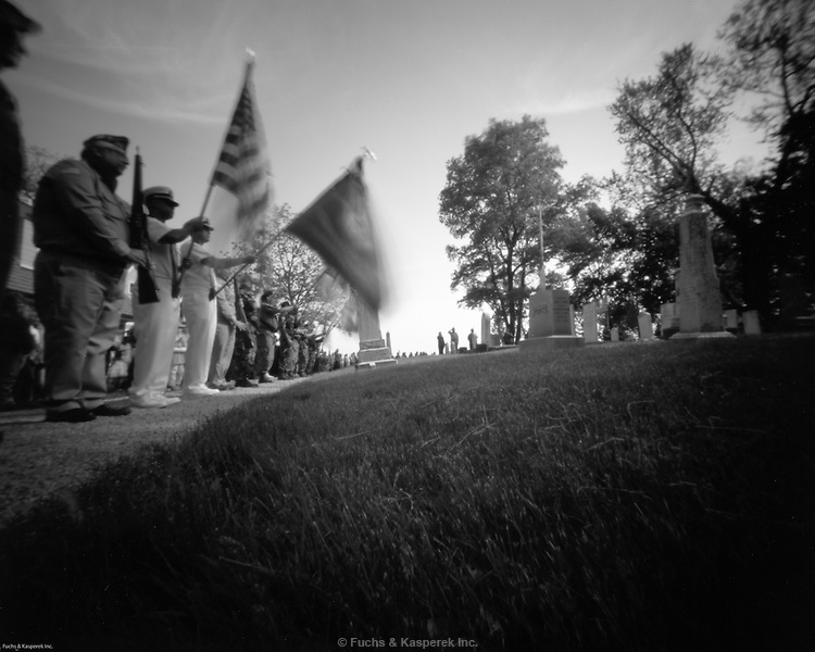 Small-town Memorial Day services.