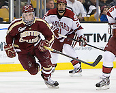 Danny Linell (BC - 10) - The Boston College Eagles defeated the Harvard University Crimson 4-1 in the opening round of the 2013 Beanpot tournament on Monday, February 4, 2013, at TD Garden in Boston, Massachusetts.
