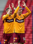 Motherwell v St Johnstone.....16.04.11  Scottish Cup Semi-Final.Keith Lasley applauds the fans.Picture by Graeme Hart..Copyright Perthshire Picture Agency.Tel: 01738 623350  Mobile: 07990 594431