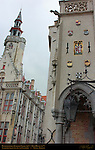 Poortersloge Burgher's Lodge 1417, Old Toll House 1477, Academiestraat and Jan van Eyckplein, Bruges, Brugge, Belgium