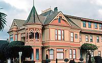 Ferndale CA:  Eastlake Style House, NE Corner Berding & Brown St., 1880's. Now a Bed & Breakfast.   Photo '83.
