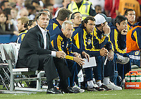 07 March 2012: LA Galaxy head coach Bruce Arena watches the action during a CONCACAF Champions League game between the LA Galaxy and Toronto FC at the Rogers Centre in Toronto..The game ended in a 2-2 draw.