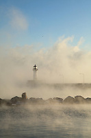 &quot;Lighthouse in Sea Smoke&quot;<br />