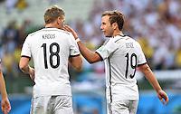 FUSSBALL WM 2014  VORRUNDE    GRUPPE G     Deutschland - Ghana                 21.06.2014 Toni Kroos (lI) und Mario Goetze (re, beide Deutschland)