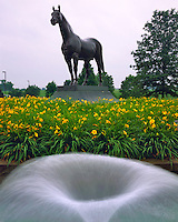 Man O'War Statue, Shrine to the Famous Horse, Kentucky Horse Park State Park, Kentucky