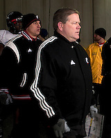 Cincinnati head coach Brian Kelly. The Cincinnati Bearcats defeated the Pittsburgh Panthers 45-44 in the final seconds of the River City Rivalry in a contest for the Big East Championship and a major bowl bid on December 5, 2009 at Heinz Field, Pittsburgh, Pennsylvania. .