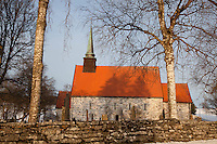 Stiklestad Church (Stiklestad kirke) a parish church in the municipality of Verdal in Nord-Trøndelag county, Norway. This medieval stone church building was completed in 1180. It was designed by Archbishop Øystein Erlendsson and it seats about 520 people.