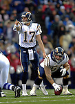 3 December 2006: San Diego Chargers quarterback Philip Rivers (17) in action against the Buffalo Bills at Ralph Wilson Stadium in Orchard Park, New York. The Charges defeated the Bills 24-21. Mandatory Photo Credit: Ed Wolfstein Photo<br />